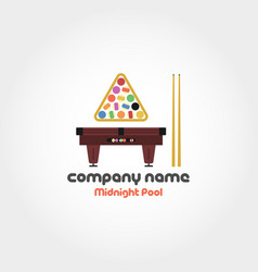 Midnight pool - company name vector