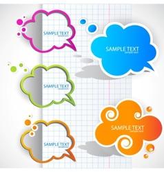 paper cloud bubble for speech vector image