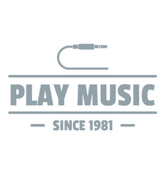 play music logo simple gray style vector image