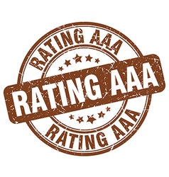 Rating aaa brown grunge round vintage rubber stamp vector