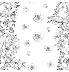 Sakura seamless pattern vector