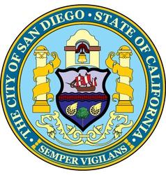 San Diego City Seal vector image vector image