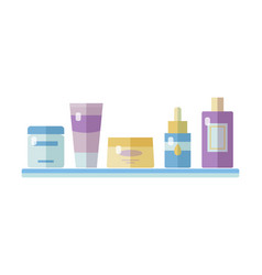 set of tubes and vials cosmetics vector image vector image
