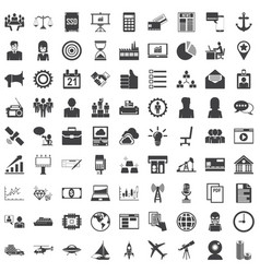 universal icon set 81 icons vector image vector image