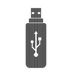 Usb flash sign vector image