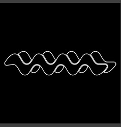 Wave the white path icon vector
