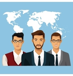 world business people teamwork vector image
