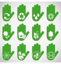 Ecological hands vector image