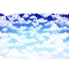 Editable of light clouds in a blue sky made using vector