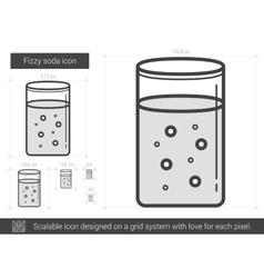 Fizzy soda line icon vector