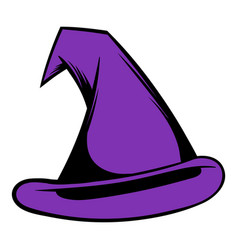 witch hat icon cartoon vector image