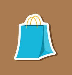paper sticker fashion clothes paper bag vector image
