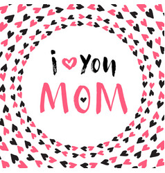 Mother day greeting card printable poster hand vector