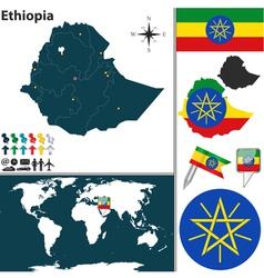 Ethiopia map vector