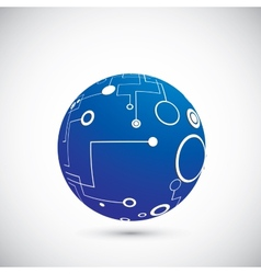 Abstract technology globe vector