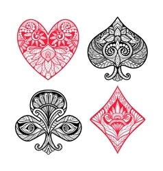 Card Suits Set vector image