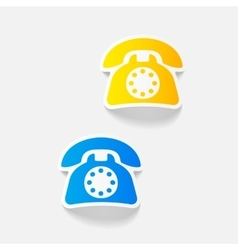 Realistic design element telephone vector