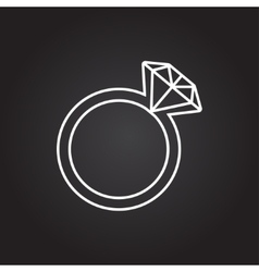 Wedding ring icon vector