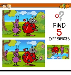 preschool differences task vector image
