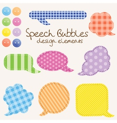 speech bubbles design vector image