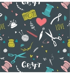 Crafts patterns and hand drawn background vector