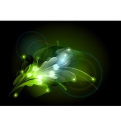abstract corner green vector image vector image