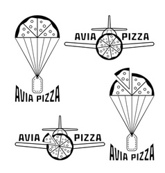 Avia pizza concept vector
