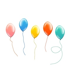 balloons set vector image