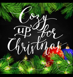 Black chalkboard for christmas vector