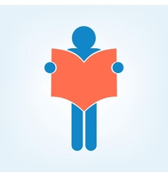 Book Reader Sign Icon vector image vector image
