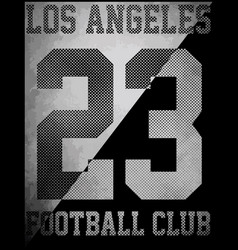 College sport los angeles typography t-shirt vector