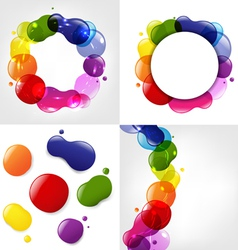 Colorful Splotch Formations vector image vector image