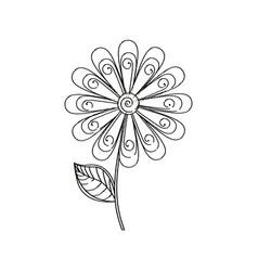 Daisy flower decoration sketch vector