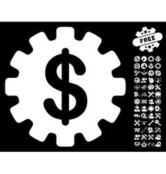 Development cost icon with tools bonus vector
