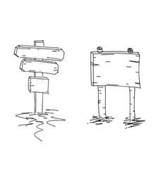 double arrows hand drawn sketch vector image