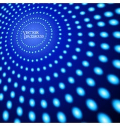 EPS10 Perspective Blue Dots Abstract vector image vector image