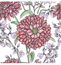 Floral watercolor seamless pattern flower vector