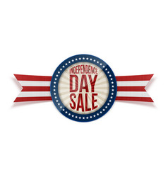 independence day sale circle banner vector image