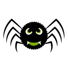 isolated halloween spider vector image