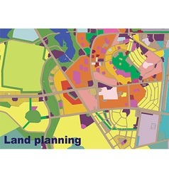 land planning vector image