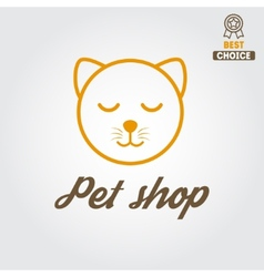 Logo badge or label for pet shop or veterinary vector image