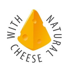 Logo triangular slice of cheese vector