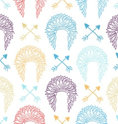 Native American Seamless Patterns vector image