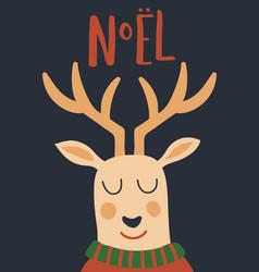noel deer vector image