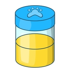 Pets urine sample icon cartoon style vector