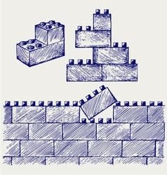 Plastic building vector image vector image