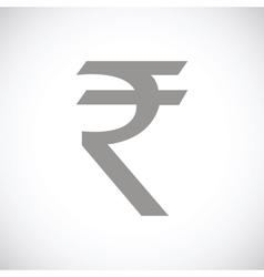 Rupee black icon vector