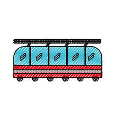 Scribble cute train cartoon vector