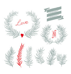 set decoration vector image vector image