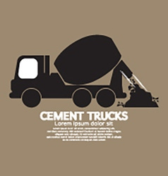 Single Black Cement Mixer Trucks vector image vector image